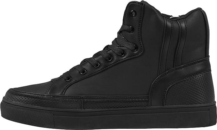 Classicszipper Chaussures Urbain De Haute Haut - Adultes Chaussures De Sport Unisexe, Rouge, Taille 43