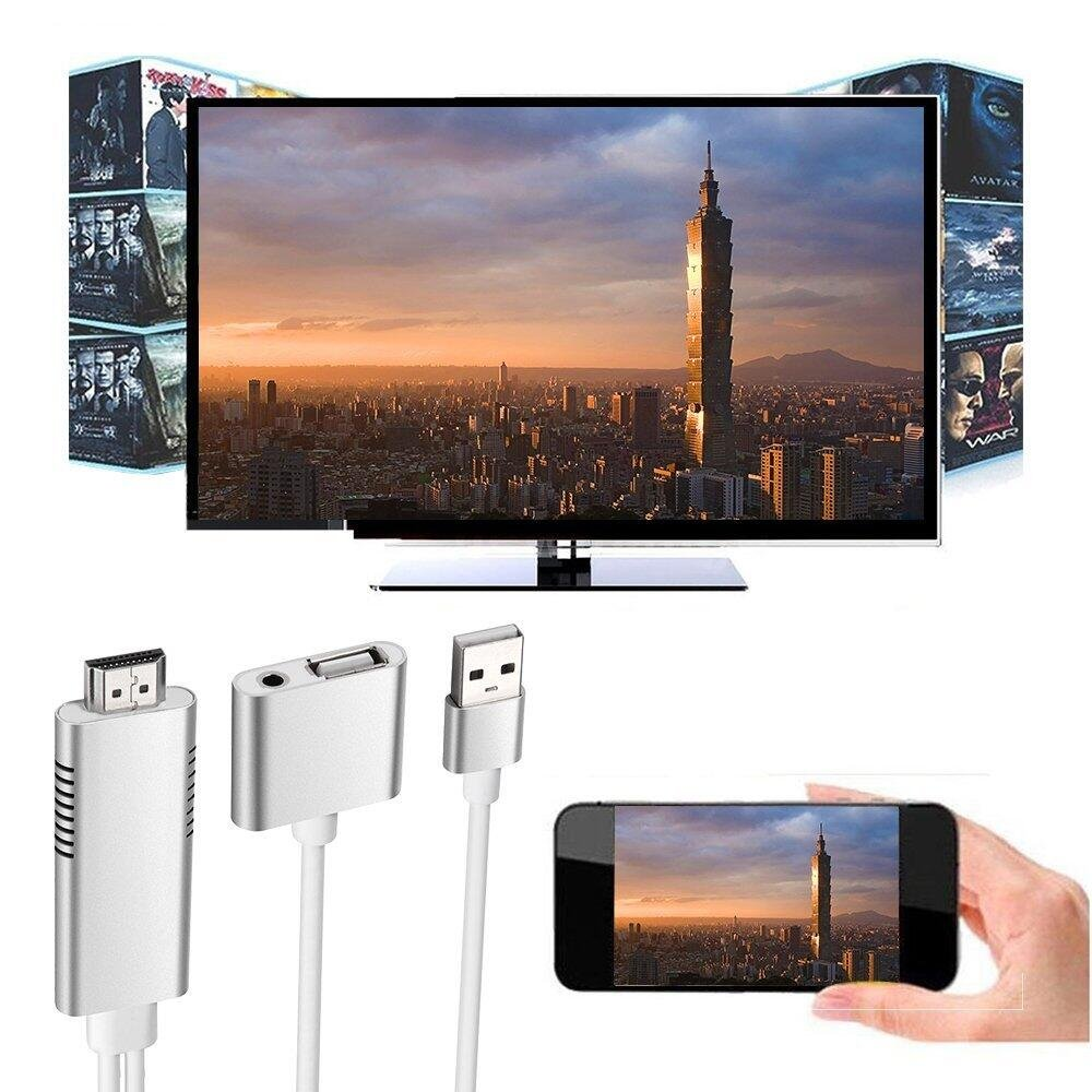 MHL to HDMI Adapter for Smartphones, WEILIANTE HD 1080P HDMI Adapter 1080P Digital AV Adapter HDTV MHL Cable Support All Smartphones to Mirror on TV/Projector/Monitor by WEILIANTE (Image #6)
