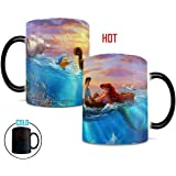 Disney – Little Mermaid – Falling in Love – Prince Eric – Thomas Kinkade – Morphing Mugs Heat Sensitive Mug – Ceramic Color Changing Heat Reveal Coffee Tea Mug – by Trend Setters Ltd.