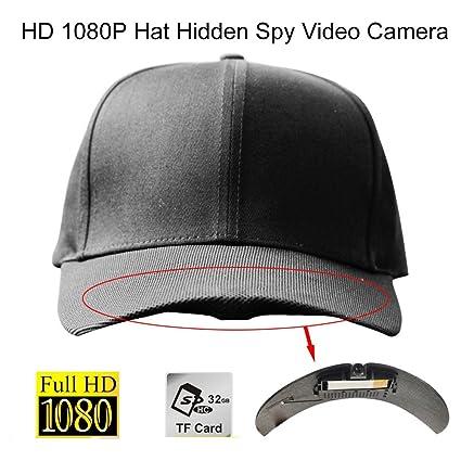 Amazon.com: HD 1080P Sombrero oculta espía grabador de vídeo ...
