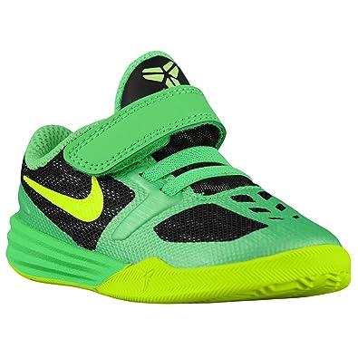 huge selection of 52747 3906e Nike Kobe Mentality Toddler Boys Shoe Black Poison Green Volt (10)