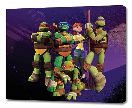 TMNT Ninja Turtles CANVAS PRINT Wall Decor Art Giclee Kids Bedroom P080, 2