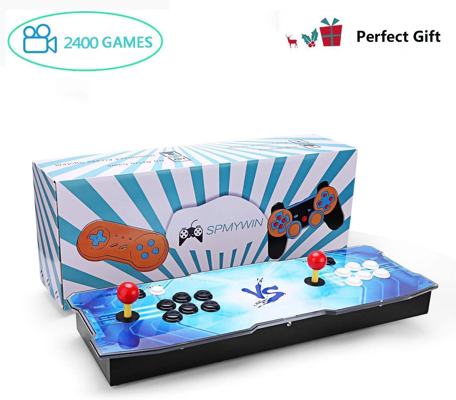 Spmywin 2400 2D Pandora Box Arcade Video Game Console 720P Full HD Retro Consola Arcade Video Gamepad Expandir juegos 2D Lista Inteligente