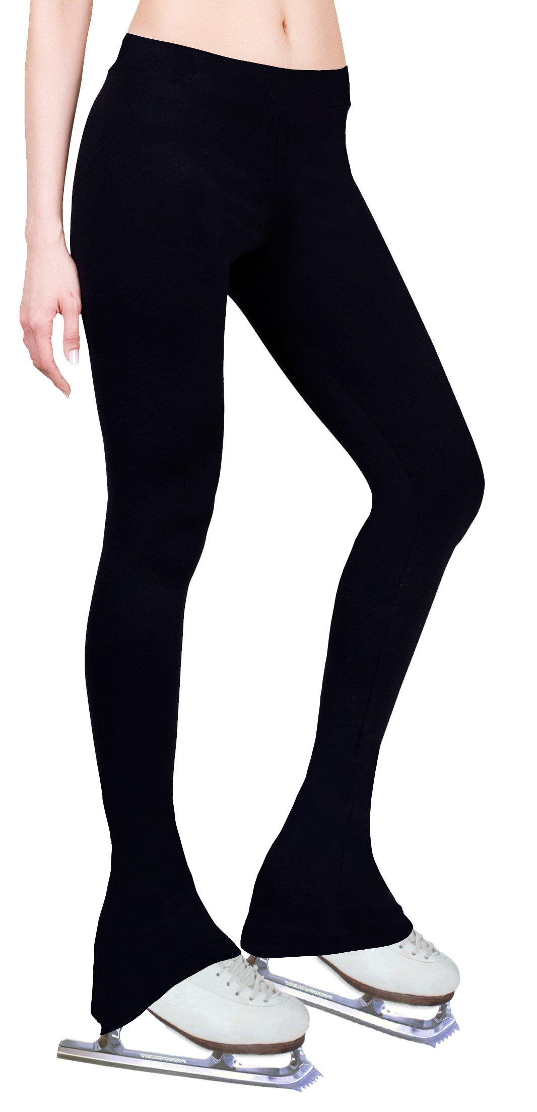 ny2 Sportswear Figure Skating Polartec Polar Fleece Pants PF200BK (Black, Adult Extra Small)
