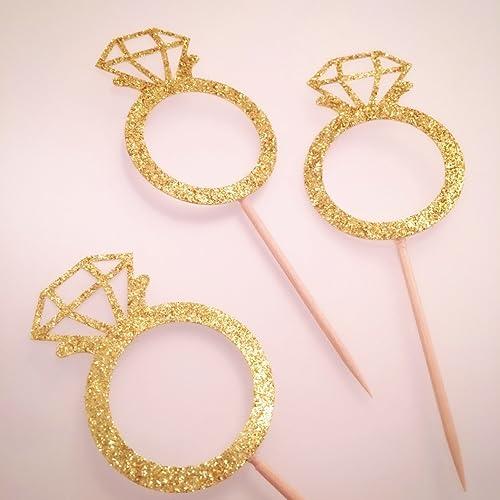 Amazoncom Diamond Ring Cupcake Topper Donut Topper Diamond Ring