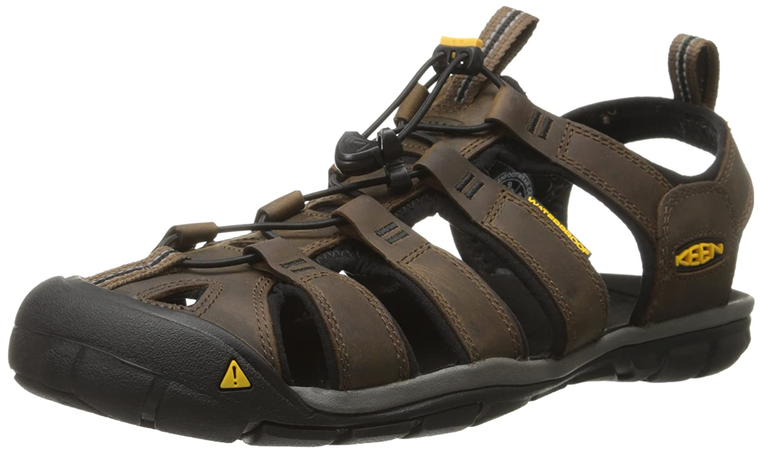 Keen Clearwater CNX Leather, Sandalias de Senderismo Para Hombre 41 EU|Marrón (Dark Earth/Black Dark Earth/Black)