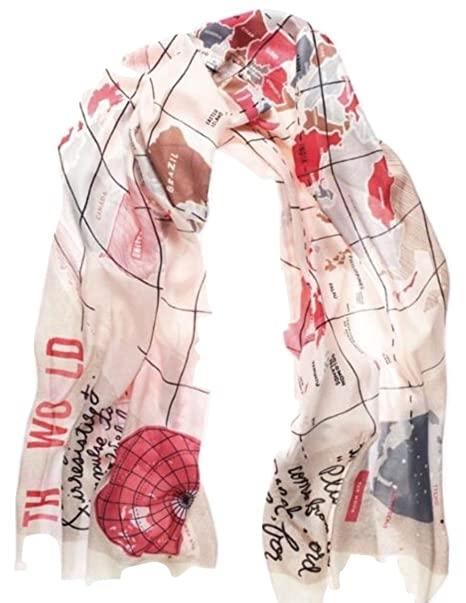 Kate spade world map scarf wanderlust oblong pink amazon kate spade world map scarf wanderlust oblong pink gumiabroncs Image collections