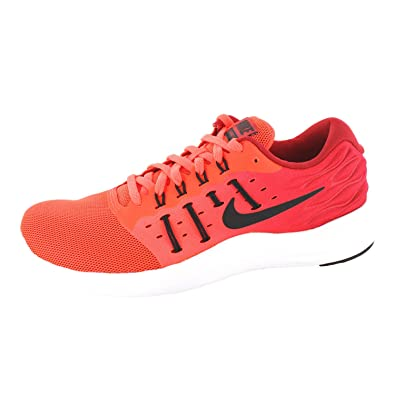 lowest price d8b03 53d79 NIKE Men s Lunarstelos, Total Crimson Black-Gym RED-White, ...