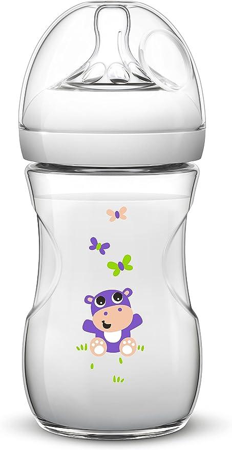 PP 0/% BPA Biber/ón tetina suave y flexible color transparente 260 ml antic/ólicos Philips Avent SCF627//22