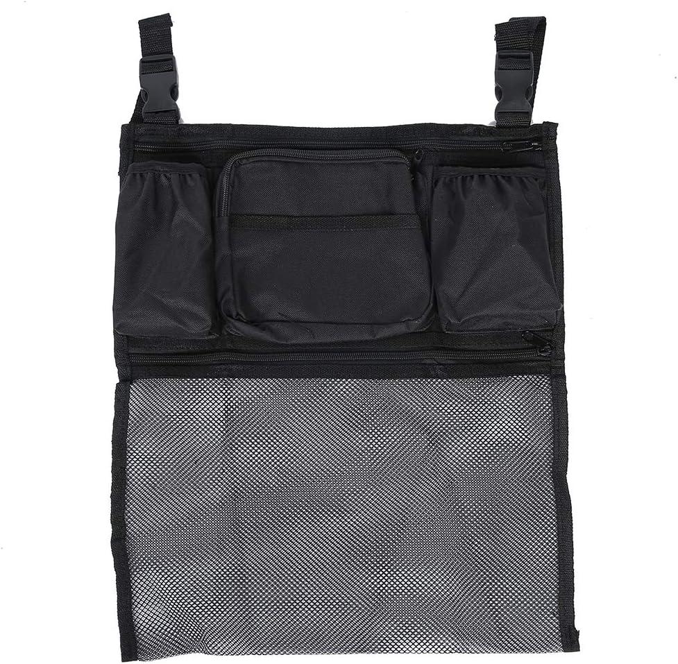 Bolsa para silla de ruedas, multifunción, ayuda a la movilidad, mochila para scooter, reposabrazos, bolsa de almacenamiento para el respaldo de la silla de ruedas, para personas mayores discapacitadas