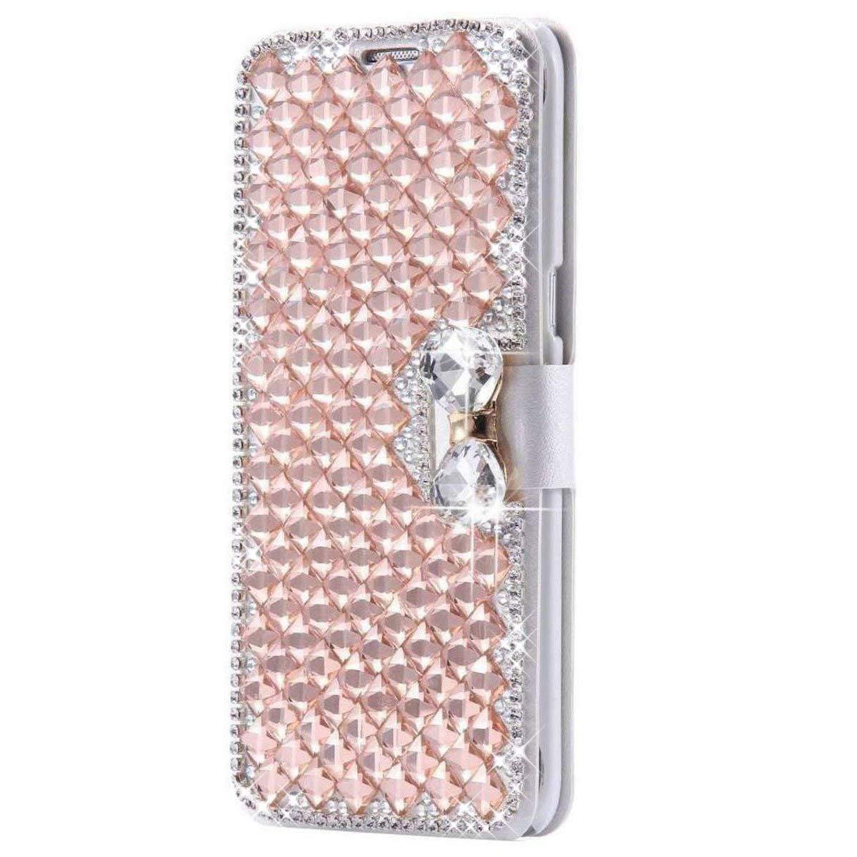 SainCat Kompatibel mit Samsung Galaxy Note 3 H/ülle Schmetterling Leder Flip Case Glitzer Strass Ultra D/ünn Sch/ützh/ülle Sto/ßfest Handyh/ülle Weicher Bookstyle PU Ledertasche-Himmelblau
