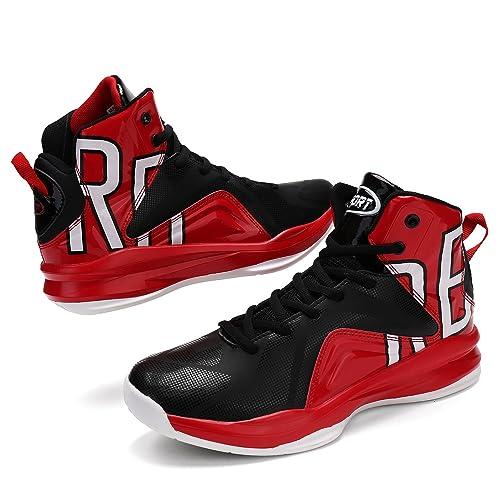 Herren Basketballschuhe Sneakers Ausbildung Outdoor Turnschuhe(Rot EU41) 1e1lctjJ