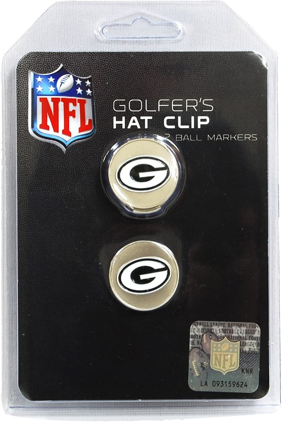 WinCraft NFL Green Bay Packers A01368 Clamshell Hat Clip with 2 Markers