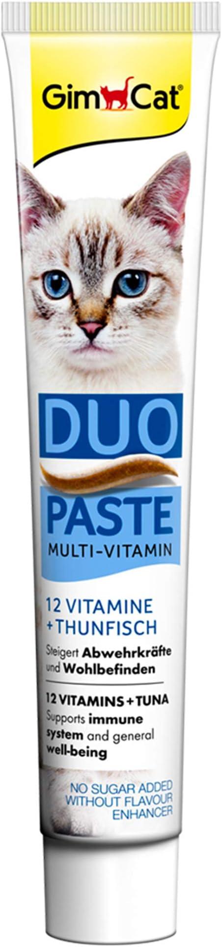 GimCat – Dúo multivitamínico en Pasta | 12 valiosas vitaminas Que fortalecen el Sistema inmunológico, sin azúcar añadido: Amazon.es: Productos para mascotas