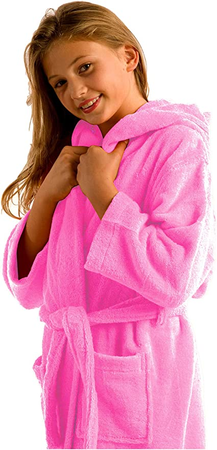 Personalised children/'s bathrobe Embroidered bathroom kids robe hooded baby robe personalized plush robe
