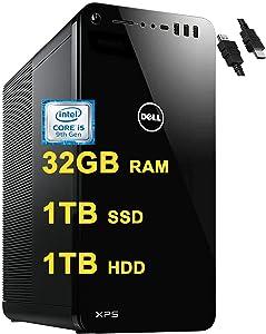 2020 Flagship Dell XPS 8930 Desktop Computer 9th Gen Intel Hexa-Core i5-9400 (Beats i7-7700HQ) 32GB RAM 1TB PCIe SSD 1TB HDD USB-C MaxxAudioWiFi Win10 + iCarp HDMI Cable