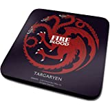 Game Of Thrones House Targaryen Logo Official New Black Coaster (10cm x 10cm)
