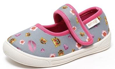 Mädchen emoji® Ballerina Schuhe Freizeitschuhe Slipper Turnschuhe Hausschuhe Kinderschuhe Spangenschuhe Klettverschluss Katze Gr.22 29