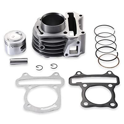 AH 61mm Big Bore Cylinder Kit With Piston Ring Pin For 4 Strokes GY6 180cc 152QMI 157QMJ Engine Scooter ATV Go Kart Taotao Baja Roketa: Automotive
