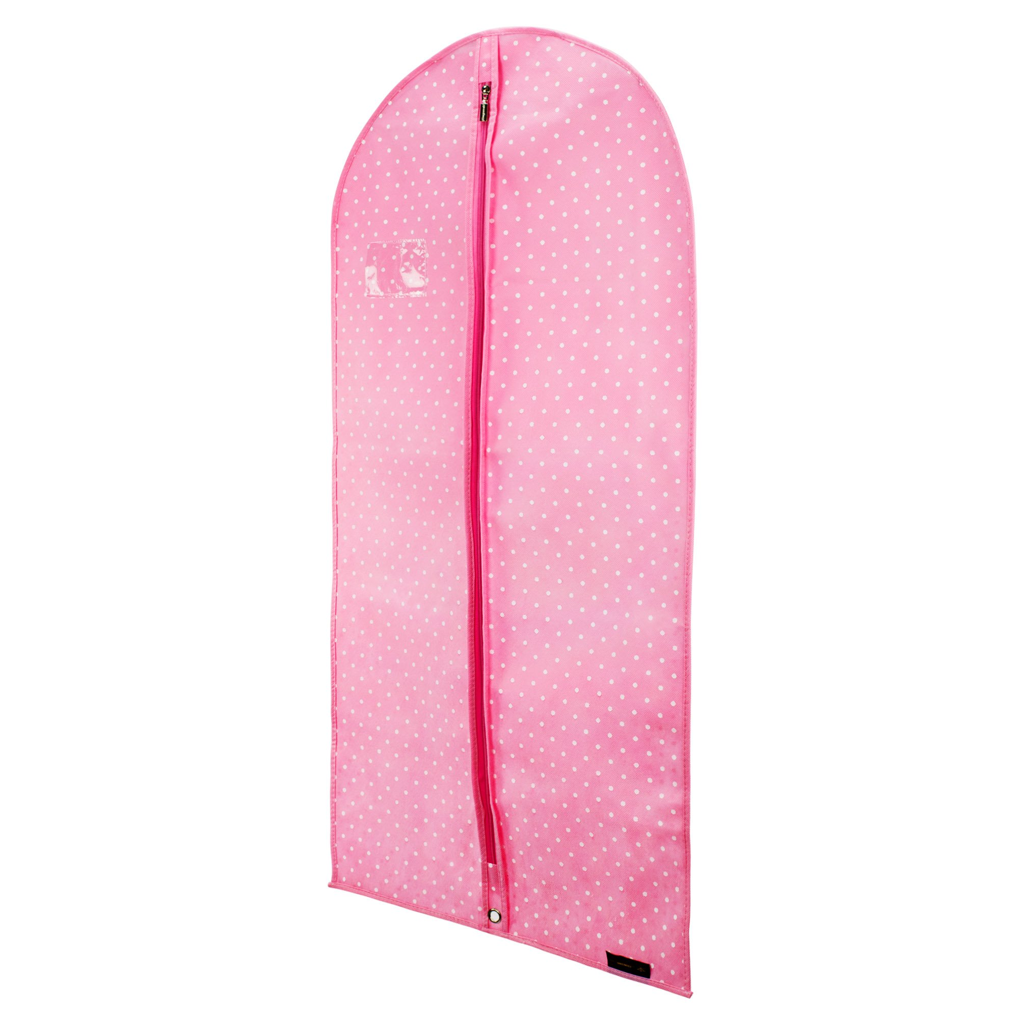 HANGERWORLD Pink 45inch Polka Dot Breathable Zipped Garment Dress Suit Cover Clothes Travel Bag Protectors by HANGERWORLD (Image #2)