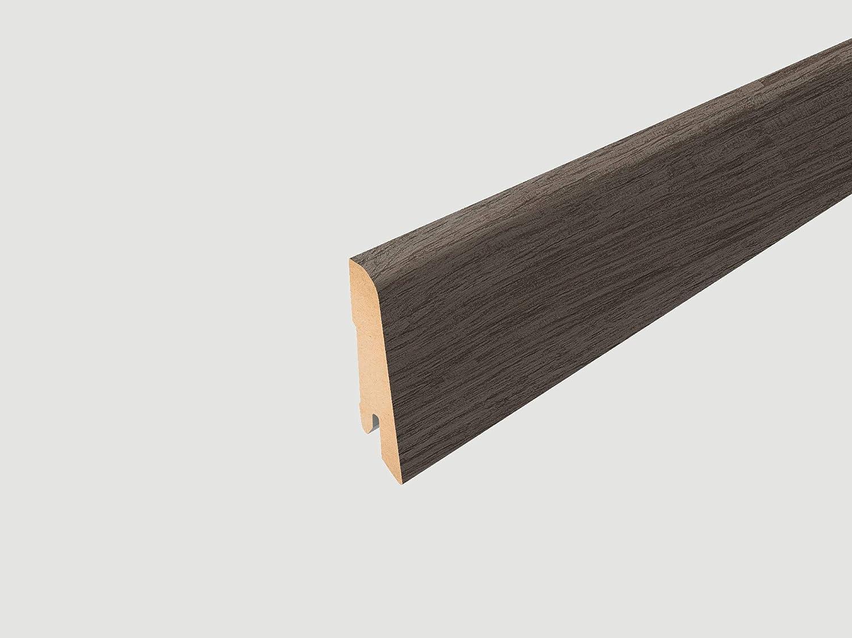 8mm, 2,541 m/² breite Diele EGGER Home Laminat dunkel braun Holzoptik Klick Laminatboden Dunino Eiche graphit  EHL048