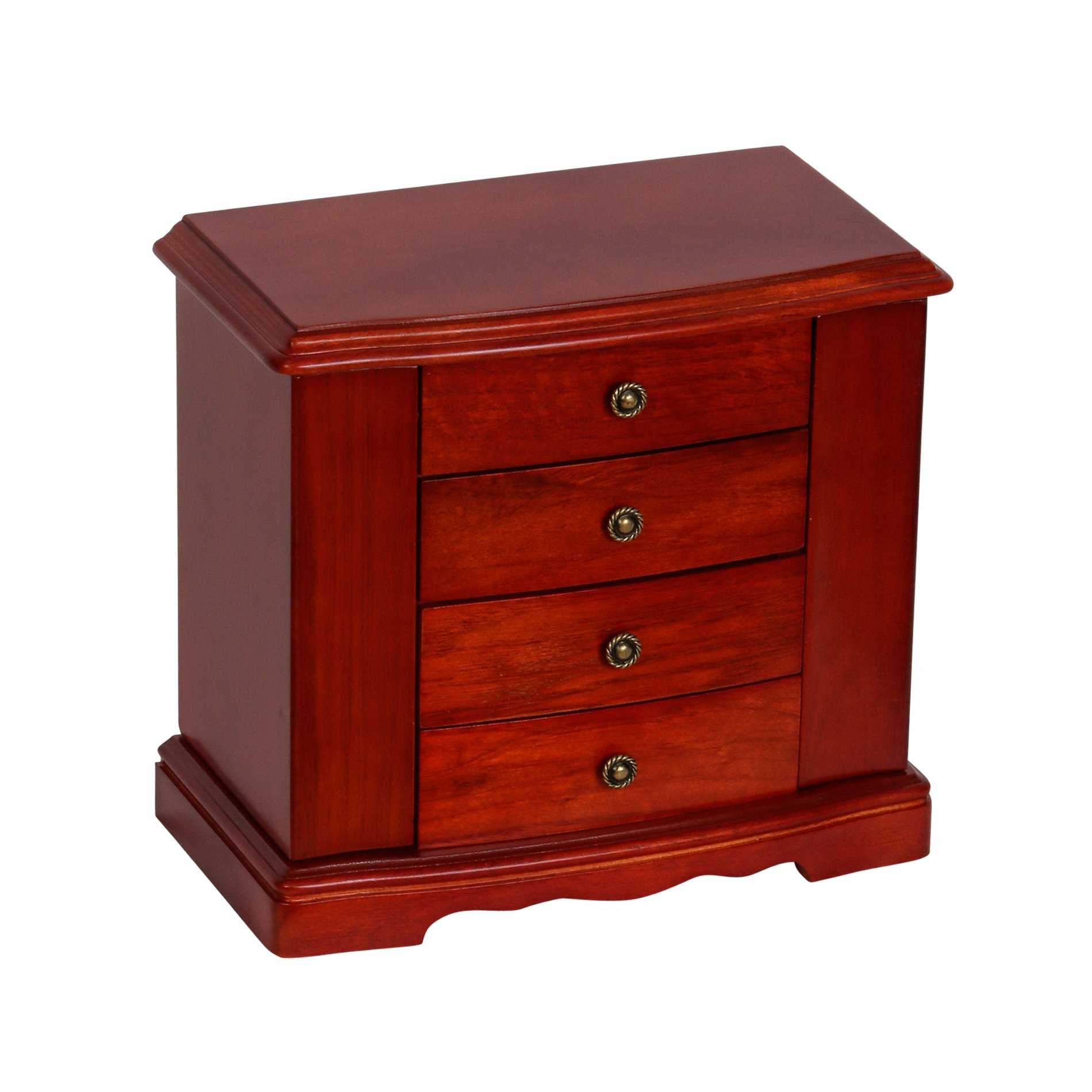 Mele & Co. Harmony Wooden Musical Jewelry Box (Cherry Finish)