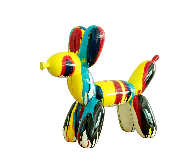 Piccolo Cane stile Mongolfiera–Statuetta decorativa–Colori laccate getti di vernici multicolori–Oggetto Design moderno Meubletmoi