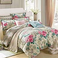Ahmedabad Cotton 144 TC 100% Cotton Flat Double Bedsheet with 2 Pillow Cover, Multi-Colour, 228 x 244 cm, CSVB144DFLS_30K67