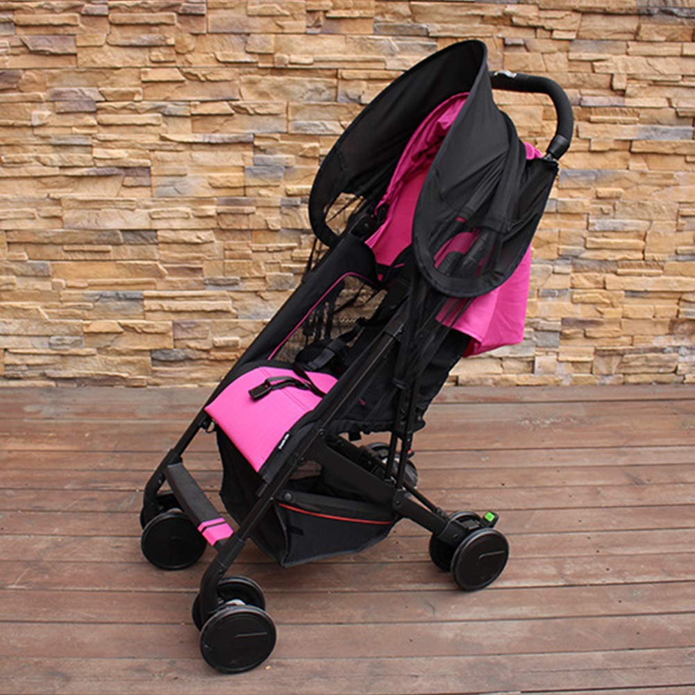 ZLMI Baby Stroller Sunshade Canopy, Universal Baby Stroller Sun Shade Awning, Toddler Pushchair Sun Shade Canopy Cover,UV Protection Infant Trolley Parasols by ZLMI (Image #4)