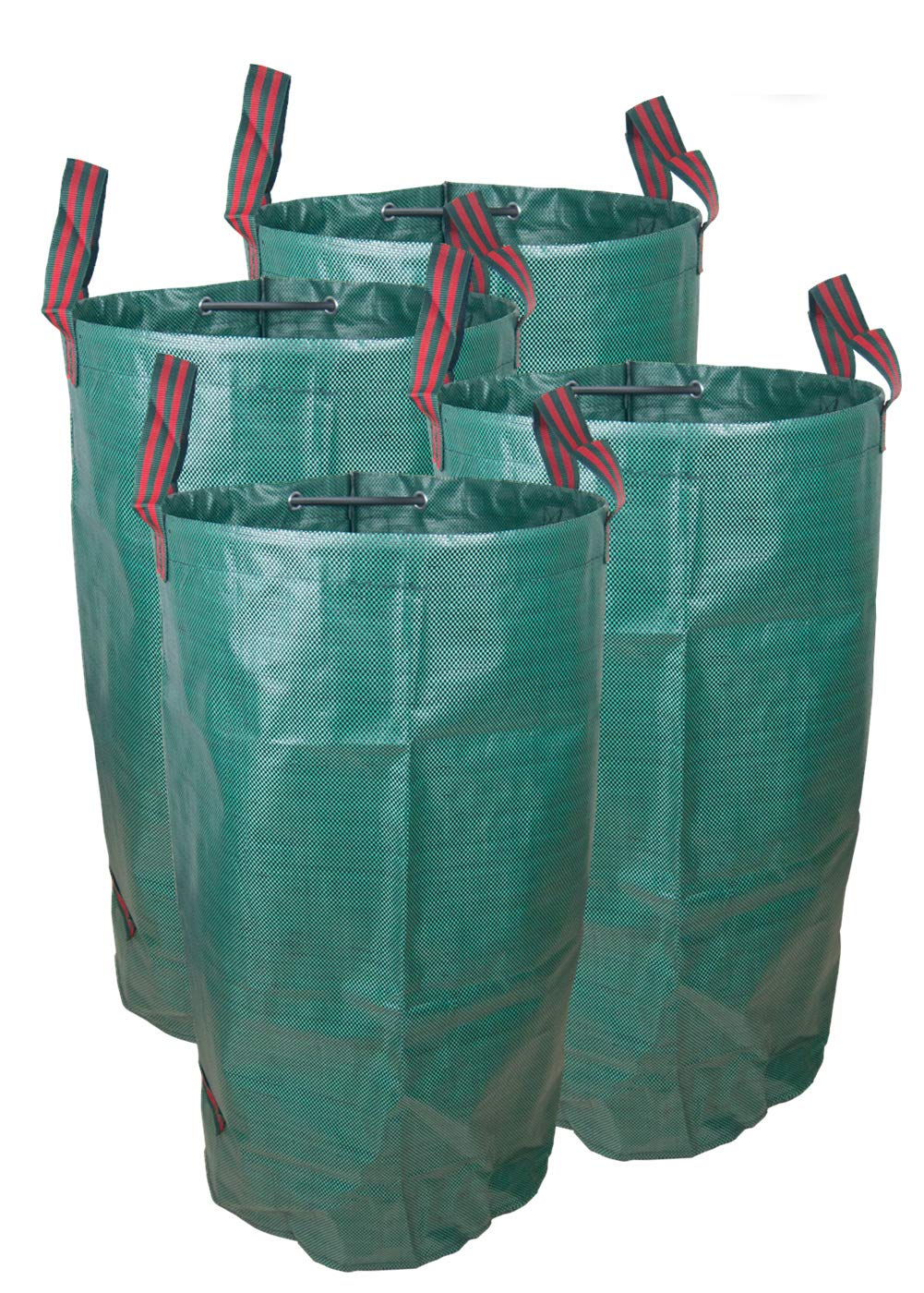 NINAT Garden Waste Bag, Collapsible & Reusable Gardening Lawn Leaf Bags 32 gallons/120 L Heavy Duty 4 Pack
