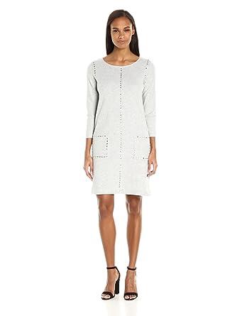 14a432c60bf Joan Vass Women s Studded Cotton Dress at Amazon Women s Clothing store