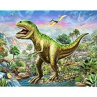 DIY 5D Diamond Painting by Number Kit, LPRTALK Full Drill Diamonds Painting Dinosaur Tyrannosaurus Crystal Rhinestone…