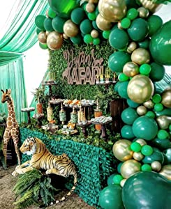 2020 New Jungle Safari Theme Party Supplies, 110 PCS Balloon Garland Kit, Favors for Kids Boys Birthday Baby Shower Decor, Balloons for Parties, Christmas Party Birthday Balloons Decorations
