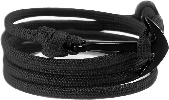 Nautical Paracord Bracelet In White size adjustable /& handmade