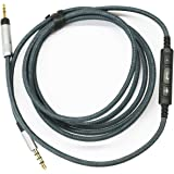 NewFantasia cable for Sennheiser HD 598 Cs / HD 599 / HD 569 / HD 579 Headphone, Remote volume control & Mic compatible Samsung Galaxy Sony Xiaomi Huawei Android