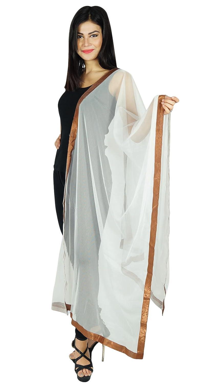 Neck Wrap Stole Yellow Net Chunni Indian Fashion Scarves Woman Dupatta Throw ibaexports