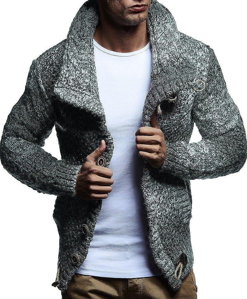 Leif Nelson pour des Hommes Cardigan Pullover Hoodie Sweatshirt Longsleeve Veste dhiver arr/êtez-Vous Sweater Manche Longue