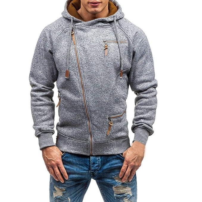 BBsmile Sudaderas con Capucha para Hombre Hombres Otoño Manga Larga Cremallera con Capucha Camisa de Entrenamiento Desgastar Tops Blusa: Amazon.es: Ropa y ...