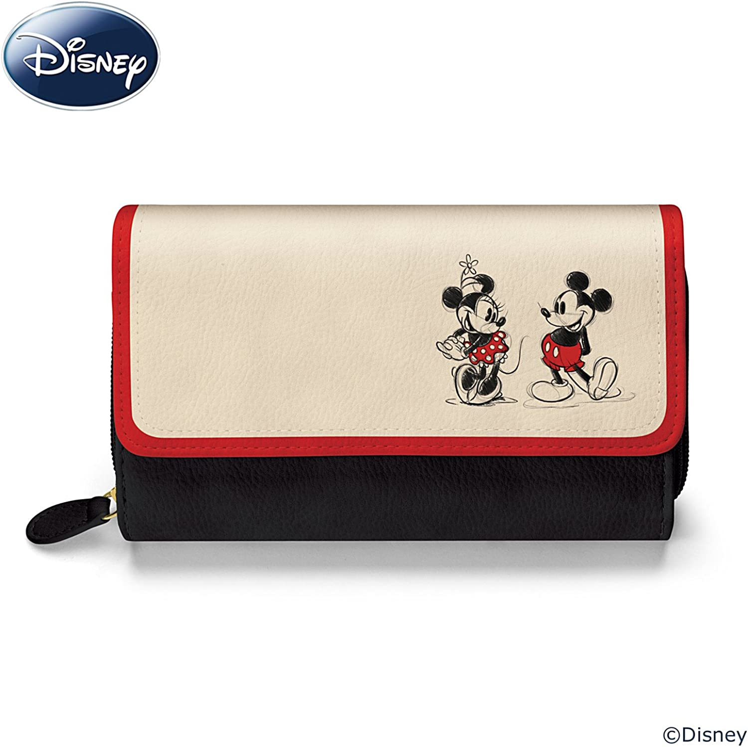 Love and Romance Handsewn Coin Purse Inspired by Mickey and Minnie Mouse