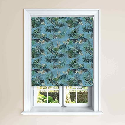 Jungle Design Blackout Roller Windows Blinds Child Safety Cut To Size Fixing Inc