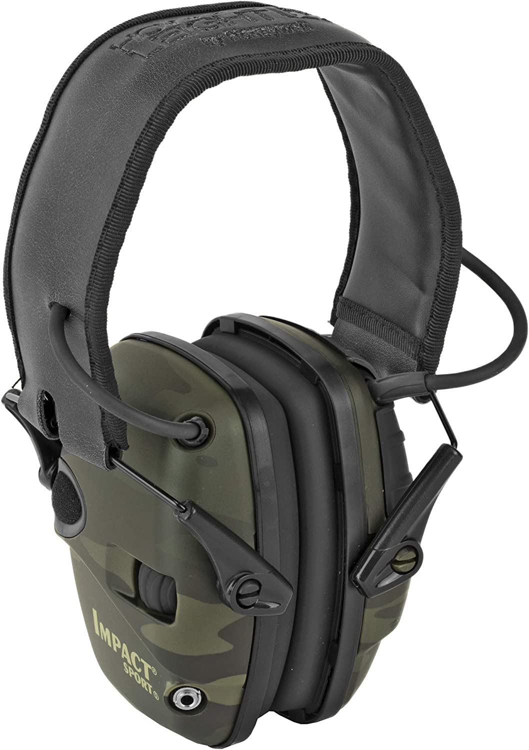 Howard Leight by Honeywell Impact Sport Sound Amplification Electronic Shooting Earmuff, Multicam Black R-02527