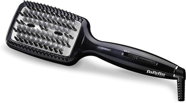 Oferta amazon: BaByliss Liss Brush HSB101E Cepillo alisador de pelo iónico, de cerámica con 3 tipos de púas, 3 temperaturas 160°C, 180°C, 200°C, alisa todo tipo de cabello, superficie más grande, alisado más rápido