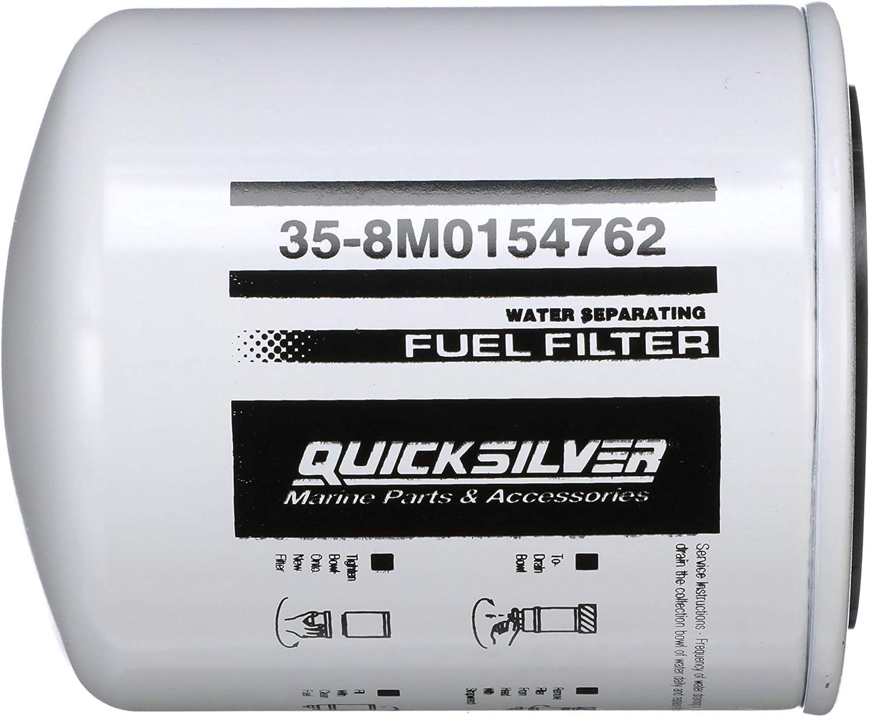 Amazon.com : Quicksilver 8M0154762 Water Separating Fuel Filter - Johnson,  Evinrude, OMC, Sierra : Sports & OutdoorsAmazon.com