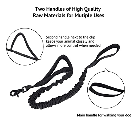Amazon Com Pettom Military Tactical Dog Leash Short Nylon Bungee