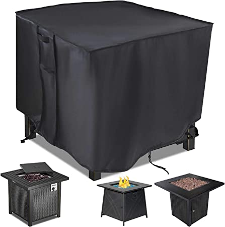 Amazon.com : Saking Gas Fire Pit Table Cover Square 28 x 28 x 25