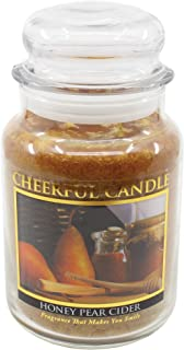 product image for A Cheerful Giver Honey Pear Cider Jar Candle, 24-Ounce