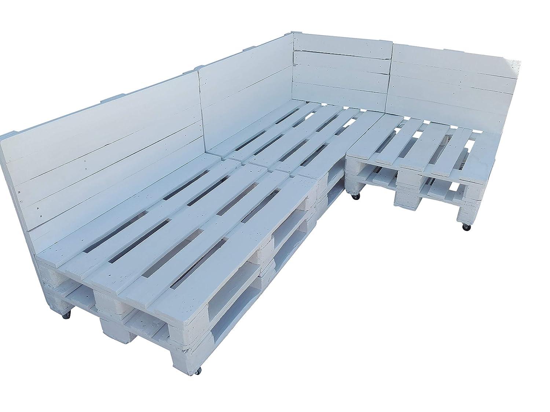 Conjunto de palets con ruedas para Chill Out & Piscina & Jardín & Interior & Exterior formado de 3 cuerpos (3 sofas): Amazon.es: Hogar
