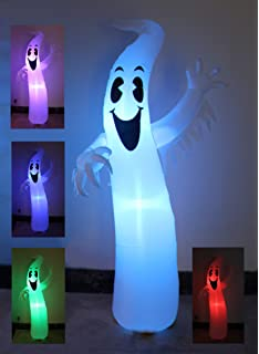8 foot tall lighted halloween inflatable ghost monster with color changing leds party decoration for outdoor - Polar Bear Christmas Outdoor Decoration Led Lights