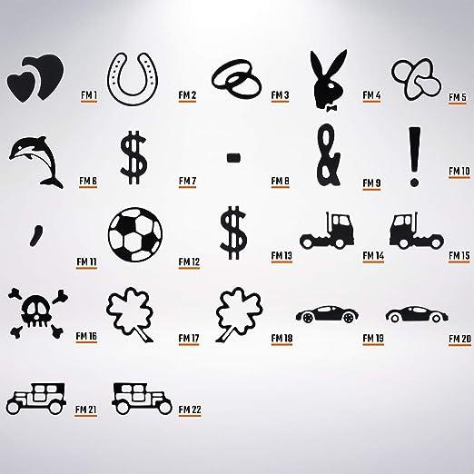 schwarz Premium 1 St/ück Fun Kennzeichen 52cm x 11cm Wunschtext Individuell Wunschkennzeichen Wunschpr/ägung bis zu 19 Zeichen Namens Kennzeichen Namensschild Geburtstag VIELE Farben