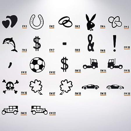 L P Car Design Fkz 1 Stück Fun Kennzeichen 52cm X 11cm Wunschtext Bohrung Beschichtungsfarbe Individuell Wunschkennzeichen Wunschprägung Namens Kennzeichen Namensschild Farbe Weiss Auto